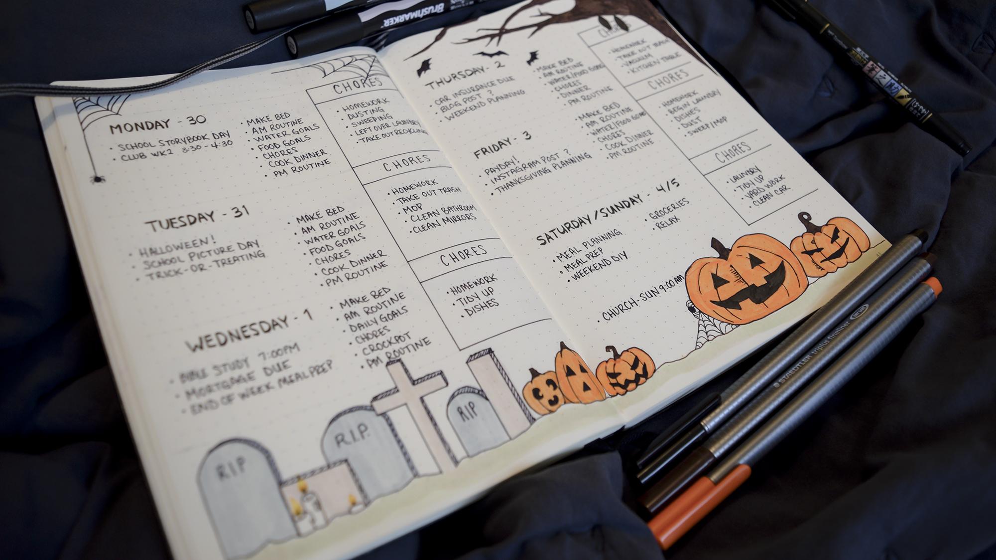 Bullet Journal: Halloween 2017 – these lucid dreams